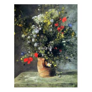 Renoir, Flowers in a Vase post card