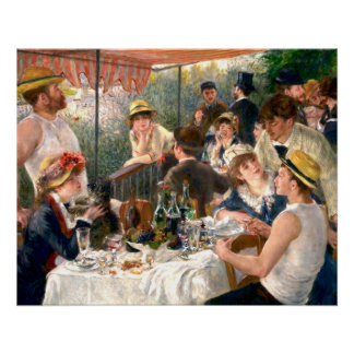 Renoir French Luncheon at the Boating Party Poster