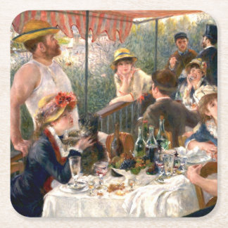 Renoir French Luncheon at the Boating Party Square Paper Coaster