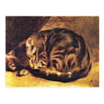 Renoir: Gato el dormir Postal
