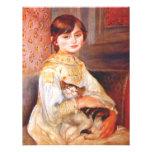 Renoir Girl With Cat Invitations