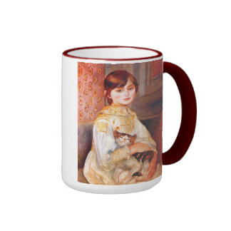 Renoir Girl With Cat Mug