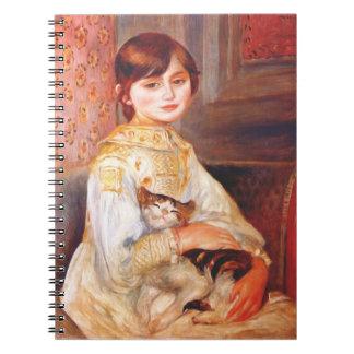 Renoir Girl With Cat Notebook