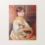 Renoir Girl With Cat Puzzle