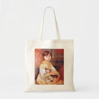 Renoir Girl With Cat Tote Bag