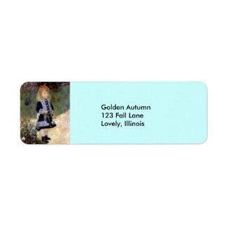 Renoir--Girl with Watering Can Label
