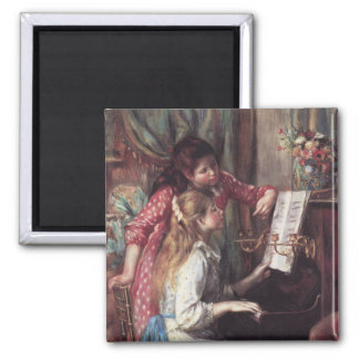 Renoir: Girls at the Piano 2 Inch Square Magnet