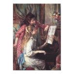 """Renoir: Girls at the Piano 5"""" X 7"""" Invitation Card"""