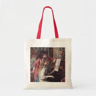 Renoir: Girls at the Piano Tote Bags