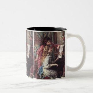 Renoir: Girls at the Piano Two-Tone Coffee Mug