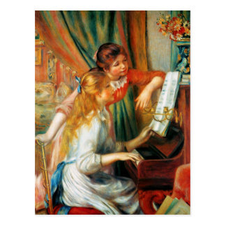 Renoir Girls at the Piano Postcard