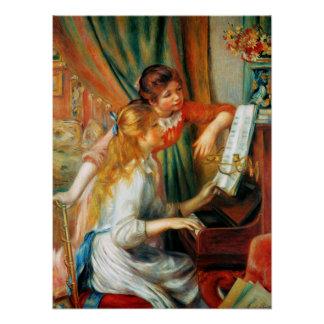 Renoir Girls at the Piano Poster