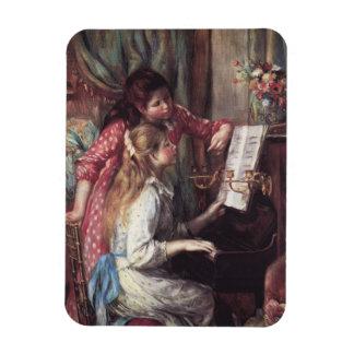 Renoir: Girls at the Piano Rectangular Photo Magnet