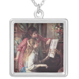 Renoir: Girls at the Piano Silver Plated Necklace