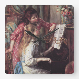 Renoir: Girls at the Piano Square Wall Clock