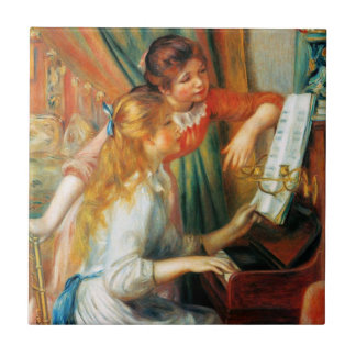 Renoir Girls at the Piano Tile