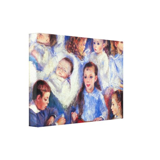 Renoir - Images of childrens character heads Gallery Wrapped Canvas