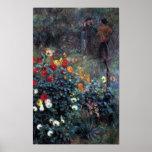Renoir - jardín en la calle Cortot Montmartre Posters