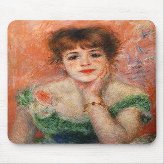 Renoir Jean Samary en un cojín de ratón Necked baj Tapetes De Raton