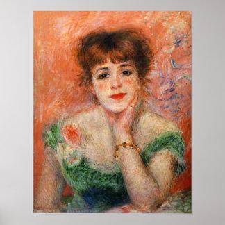 Renoir Jean Samary en un poster Necked bajo del ve