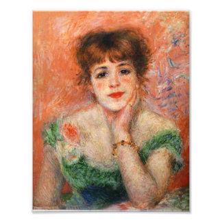 Renoir Jean Samary en una impresión Necked baja de Cojinete