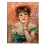 Renoir Jean Samary en una postal Necked baja del v