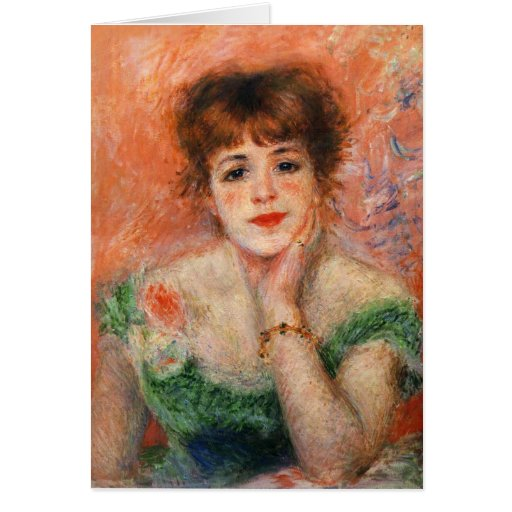 Renoir Jean Samary in a Low Necked Dress Card