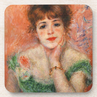 Renoir Jean Samary in a Low Necked Dress Coasters