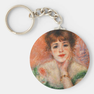 Renoir Jean Samary in a Low Necked Dress Key Chain