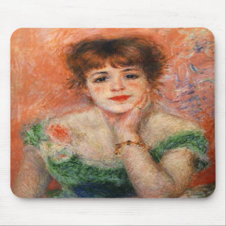 Renoir Jean Samary in a Low Necked Dress Mouse Pad