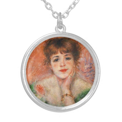 Renoir Jean Samary in a Low Necked Dress Necklace