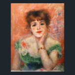 "Renoir Jean Samary in a Low Necked Dress Print<br><div class=""desc"">Renoir Jean Samary in a Low Necked Dress photo print. One of Renoir's most charming portraits, his depiction of Jeanne Samary employs the sharp use of pink and green characteristic of the artist's best work. The young red head leans towards the viewer, chin in hand, with a slight smile and...</div>"