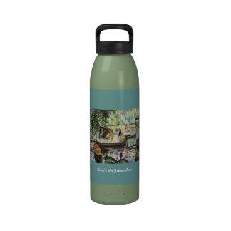 Renoir La Grenouillere art water bottle