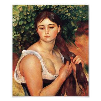 Renoir la impresión de la trenza fotografía