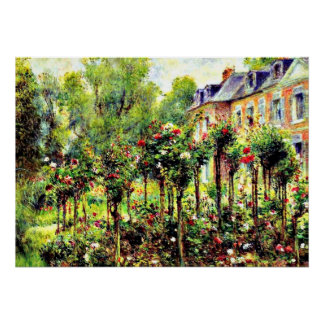 Renoir - la rosaleda en Wargemont Posters