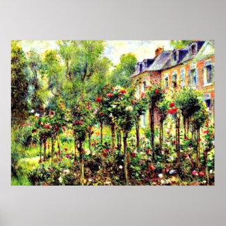 Renoir - la rosaleda en Wargemont Póster