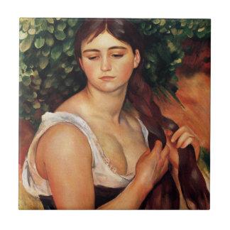 Renoir la trenza azulejo cuadrado pequeño