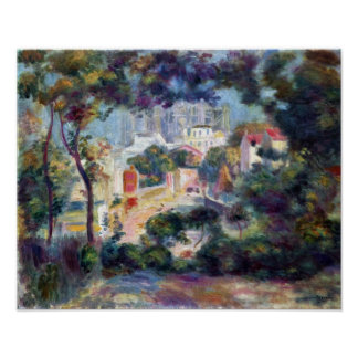 Renoir - Landscape with a view of the Sacred Heart Poster
