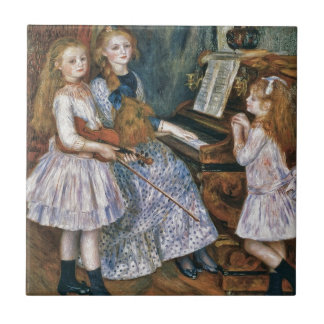Renoir las hijas de Catulle Mendès Azulejo Ceramica