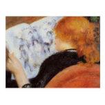 Renoir: Lectura de la mujer joven Postales