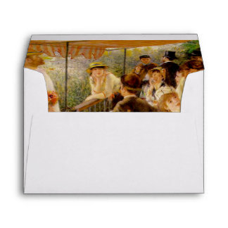 "Renoir ""Luncheon"" interior Envelope"