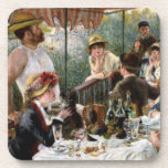 """Renoir: Luncheon of the Boating Party Drink Coaster<br><div class=""""desc"""">Another beautiful set of six classic coasters featuring people having lunch on a boating party,  painted by the French impressionist artist Pierre-Auguste Renoir.</div>"""