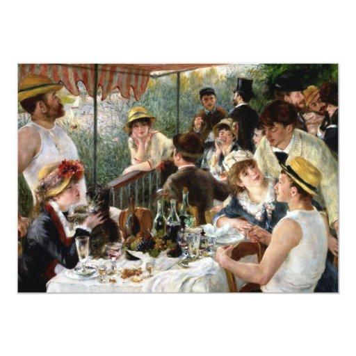 """Renoir: Luncheon of the Boating Party 5"""" X 7"""" Invitation Card"""
