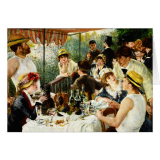 Renoir Luncheon of the Boating Party Note Card