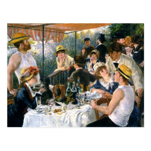"""Renoir, """"Luncheon of the Boating Party"""" Postcard"""
