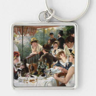 Renoir: Luncheon of the Boating Party Silver-Colored Square Keychain