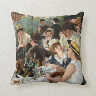 Renoir: Luncheon of the Boating Party Throw Pillow