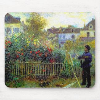 """Renoir, """"Monet painting"""" Mouse Pad"""