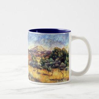Renoir: Mount Sainte-Victoire Two-Tone Coffee Mug