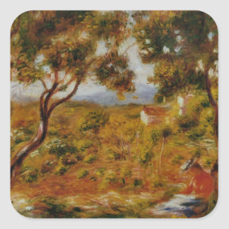 Renoir Painting Square Sticker